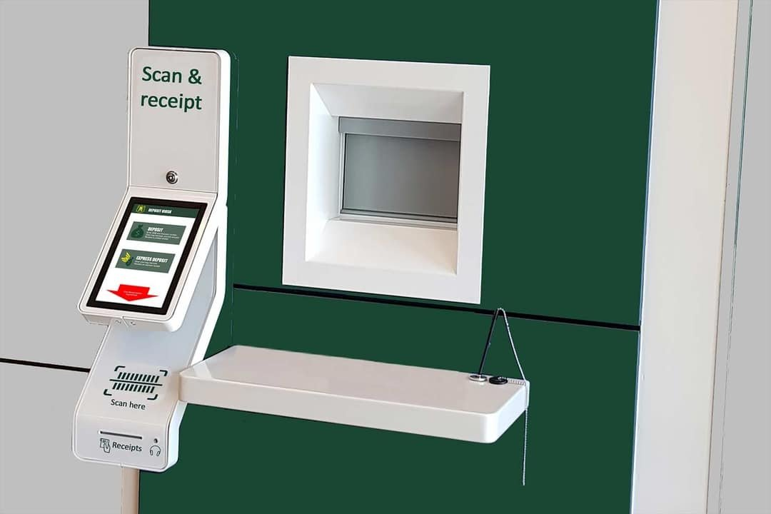 Business deposit bag kiosk